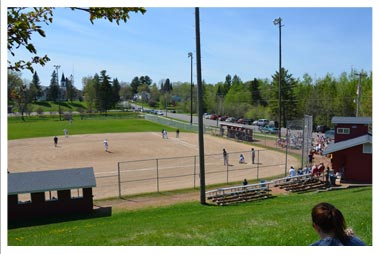 rib lake baseball diamond
